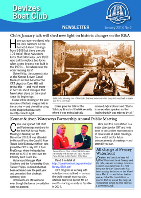Devizes Boat Club Newsletter No. 2 January 2014